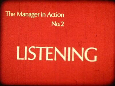 Listening The Manager In Action No 2 1974 16mm short film United Kingdom