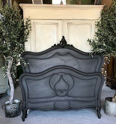 French Handpainted Louis XV Double Bed Frame