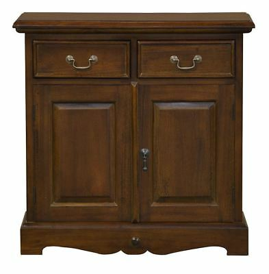 Mahogany Mini Sideboard with Two Drawers & Two Doors