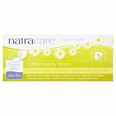 Natracare Organic Ultra Thin Cotton Pantyliners 22 per pack (PACK OF 2)