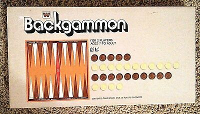 Backgammon Board Game Whitman 1974 New Never Played
