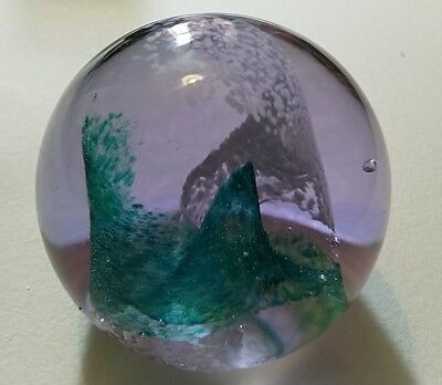 Caithness 'Pastel' Paperweight  (See Description - Minor Scratches on Base).