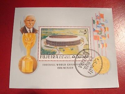 Fujeira - World Cup Trophy - Minisheet - Unmounted Used Miniature Sheet