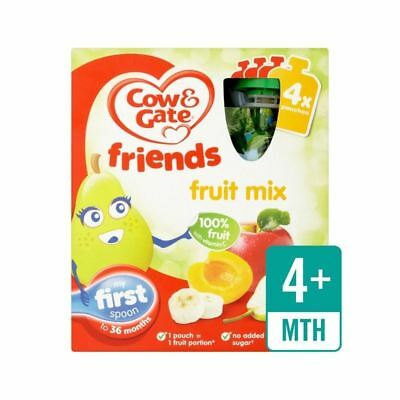 Cow & Gate Fruit Cocktail 100% Fruit Pouches 4 x 90g - Pack of 2