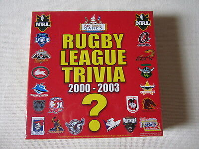 Rugby League Trivia 2000 - 2003  Game Sealed Never Opened