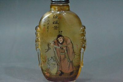 Exquisite China, handmade, personage, glass snuff bottle
