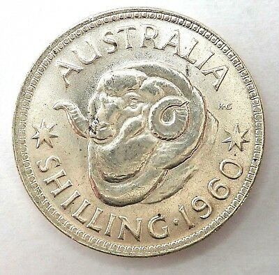 1960   Australian Shilling Coin  -  Uncirculated Condition.