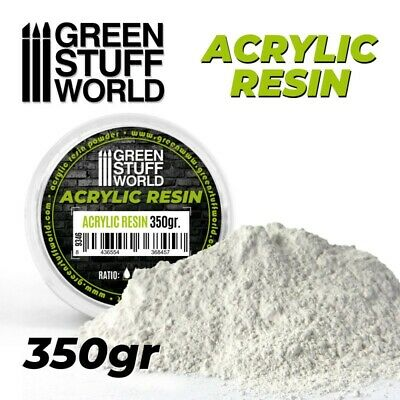 Acrylic Resin 350 gr - Powder to mix with water molds bases dioramas ceramic 40k