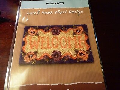 SEMCO - Latch Hook Chart Design -WELCOME RUG  design leaflet.