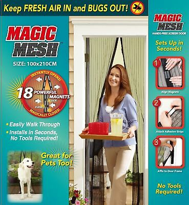 Cortina Magnetica Anti Mosquitos Magic Mesh 210X100Cm 18 Imanes Calidad Garantia