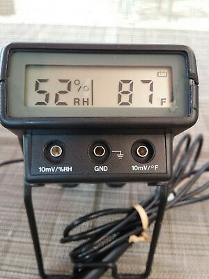 DIGITAL THERMO-HYGROMETER OMEGA RH411  with bag & manual TESTED & WORKS