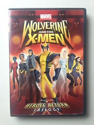 Wolverine and The X-Men: Heroes Return (DVD, 2009) Marvel Animated Trilogy