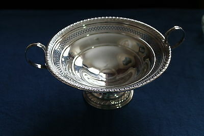 Antique Sterling Silver Wallingford Candy/Bonbon Dish Bowl With Handles