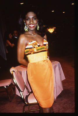 35mm vintage slide* 1989 NEW YORK  Sheryl LEE RALPH ad una serata di gala (1)