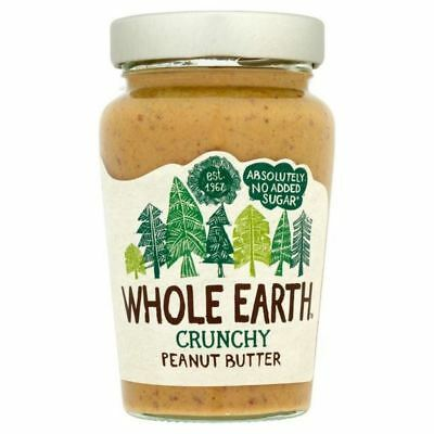 Whole Earth Crunchy Peanut Butter 454g (Pack of 4)