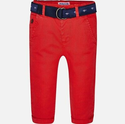 New Mayoral Baby Boy chino trousers with belt , Age 6 Months, (1540)