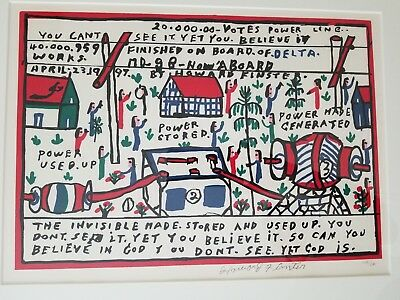 Howard Finster limited edition signed folk art print You Can't See It Yet You Be