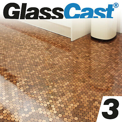 GlassCast® 3 Clear Epoxy Penny Floor Resin, Tabletop, Bar-Top Epoxy Glass Cast