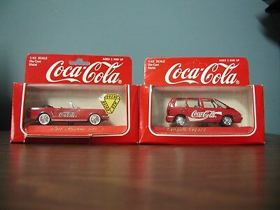 Coca Cola Solido Die Cast 1964 Mustang and Renault 1/43 Scale