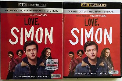 Love, Simon 4K Ultra Hd Blu Ray 2 Disc Set + Slipcover Sleeve Free Shipping