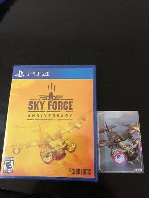 Sky Force Anniversary Limited Run #116 New Sealed PS4 With Trading Card