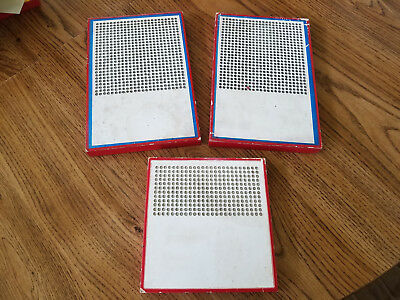 Vintage 3 pack Blank Punch Boards Cigarette Punch