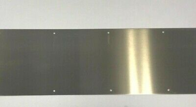 """304 Stainless Steel 10"""" * 34"""" * .050"""" Kick Plate (Fasteners Included)"""