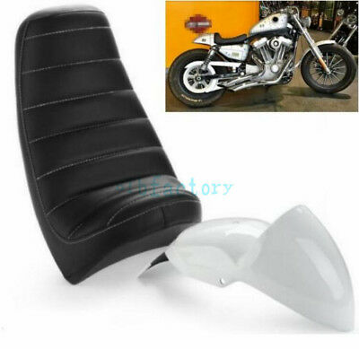 Cafe Racer Cowl Fender Tail Section w/ Seat Fit Harley Sportster XL 04-UP Custom