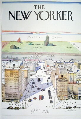 Saul Steinberg-The New Yorker-1976 Offset Lithograph