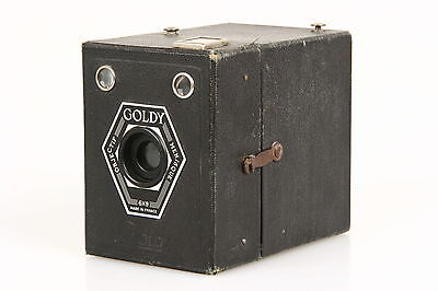 Goldy 6x9 Boxkamera mit Menisque Objektiv, Made in France