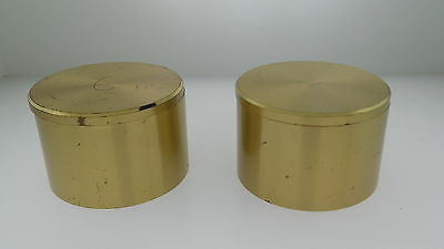 Two Vintage TIFFANY & CO Round Swivel Top Desk Travel alarm clock