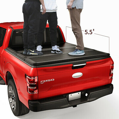 Jdmspeed Lock Hard Tri Fold Tonneau Cover 5 5ft Bed For 2004 2018 Ford F 150 399 99 Picclick