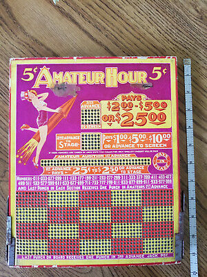 "Vintage 5 cent ""Amateur Hour"" Punch Board Trade Simulator"
