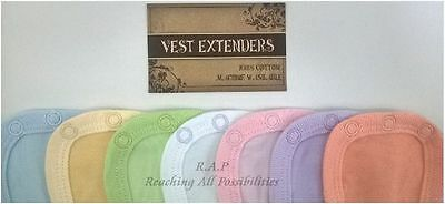 PACK OF 3 Vest Extenders for Babygrows, Bodysuits, Special Needs T-shirts/vests