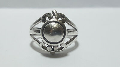 Sterling Silver Fleur De Lis Ring Size 6.75 Marked 925