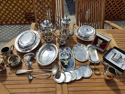 a job lot of 26 vintage silver plated items.9 kgs in weight.