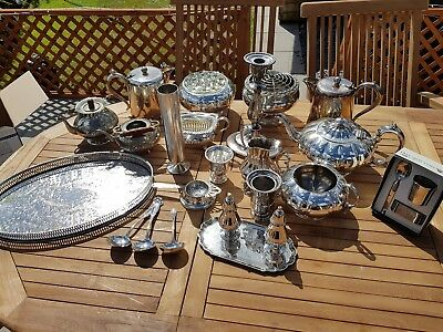 a job lot of 23 vintage silver plated items.8 kgs in weight.