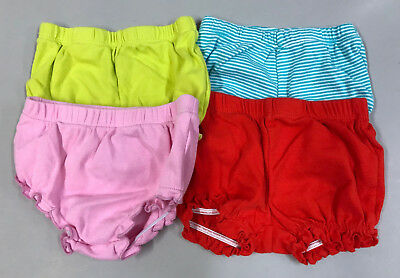 (Lot of 4) Baby Girl Toddler 3 Months Bloomer Diaper Covers Panties Bottoms