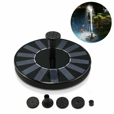 Solar Powered Fountain Water Pump Floating for Garden Pond Pool Fish Bird Bath