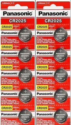 Fresh 10 PANASONIC CR 2025 CR2025 ECR2025 LITHIUM COIN CELL Battery 10 Year Life