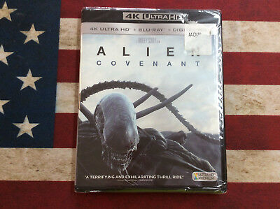 New Factory Sealed Alien Covenant 4K Ultra HD Blu-Ray Digital HD w/slipcover