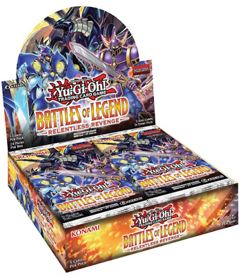 Yugioh BATTLES OF LEGEND RELENTLESS REVENGE FACTORY SEALED BOOSTER BOX (24 PACK)