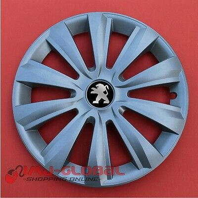 "4 ENJOLIVEURS 15"" PEUGEOT 1007 2008 207 306 406 208 307 206 iOn DELTA"