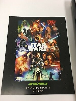 Disney Star Wars Poster FIRST Galactic Nights Event Rogue One Tatooine
