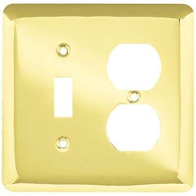 Brainerd Studio (64353) Single Switch Duplex Outlet Cover, Plated Brass-Lot of 5