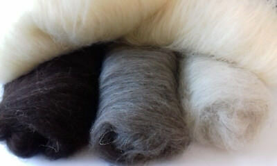 Carded Core Wool Batts, 16 Colours Undyed Natural UK Breeds, Felt Spin Fibre Art