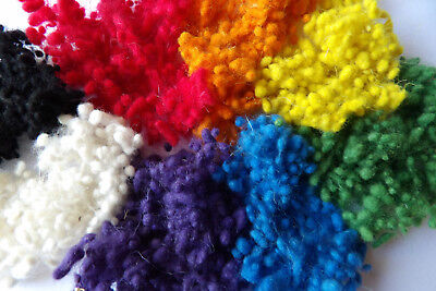 Bright Dyed Wool Nepps 20g Needle Felting Spinning Textile Art & Craft Effects