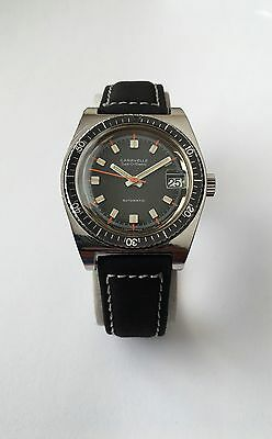 Vintage Bulova CARAVELLE Set O Matic Divers watch Automatic Swiss Black Dial