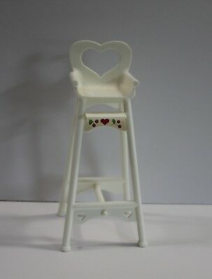 Doll High Chair White with Cherries for Kelly Doll 1997 - No Tray