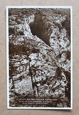 VINTAGE POSTCARD ST. KEVIN'S BED GLENDALOUGH WICKLOW IRELAND REAL PHOTO 1920's